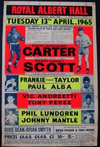 """Carter vs. Scott fight poster 205x300 - Greatest Hits: Rubin """"Hurricane"""" Carter – part 2"""
