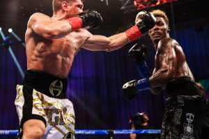 Charlo catches a hook from Derevyanchenko 300x200 - Dougie's Friday Mailbag (Can Jaime Munguia become a middleweight star?)