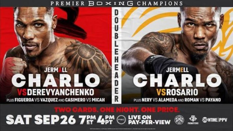 Showtime announces price for Charlo Sept. 26 PPV doubleheader