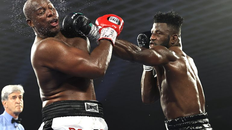 Efe Ajagba wins Top Rank debut against Jonnie Rice, but fails to impress