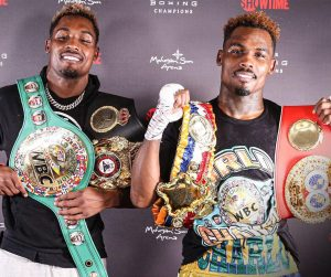 Jermall Charlo and Jermell Charlo with belts 300x251 - Dougie's Friday Mailbag (junior middleweight matchups, dreams for a better sport)