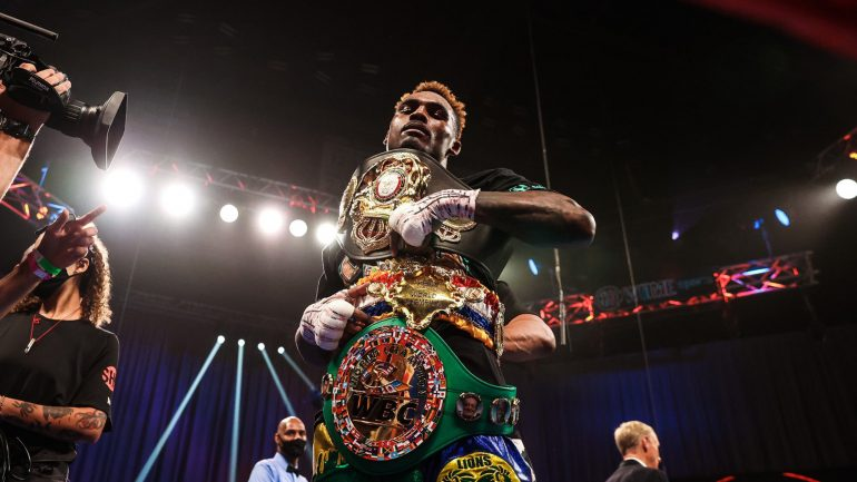 Jermell Charlo stops Jeison Rosario in eight, unifies three belts, wins Ring Magazine 154-pound title