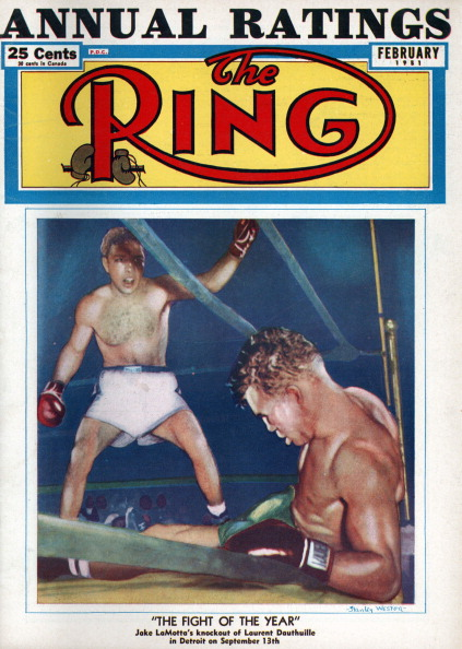 LaMotta Dauthuille Ring cover GettyImages 159922483 - Jake LaMotta proved boxing's Hail Marys unlike those in any other sport