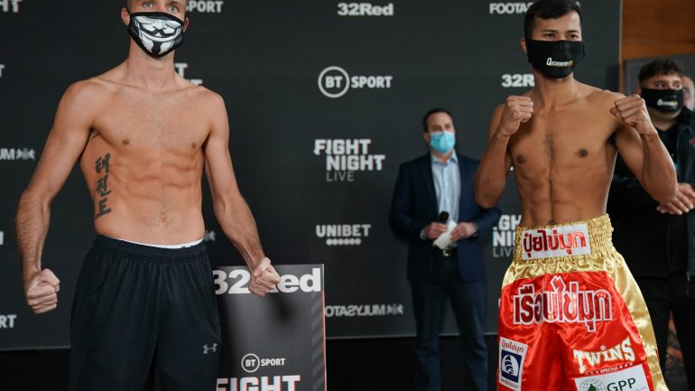 Weights: Josh Taylor, Apinun Khongsong both come in under 140 pound limit