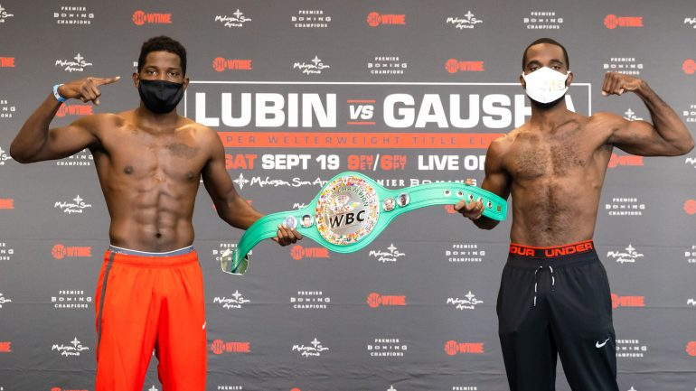 Photos: Erickson Lubin, Terrell Gausha make weight for WBC eliminator