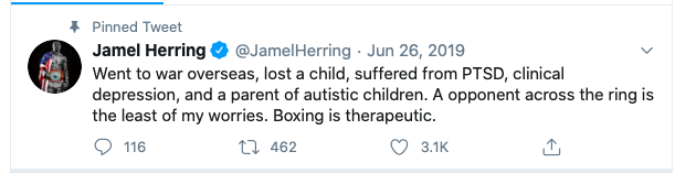 The critique of Jamel Herring by Tim Bradley stung Herring some, and his wife also took it hard.