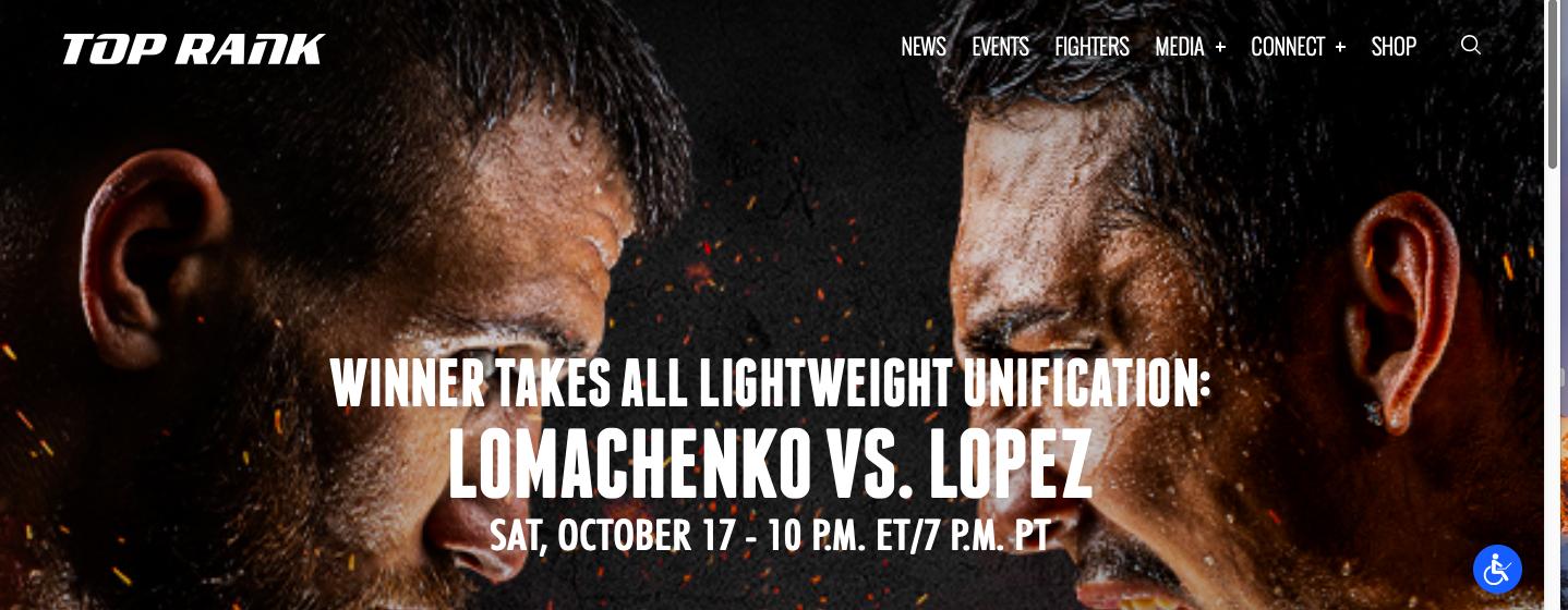 Promoter Bob Arum presents Lomachenko vs. Lopez, on Oct. 17, 2020.