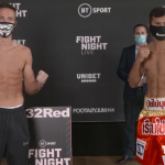 taylor khongsong weighin 150x150 - Weights: Josh Taylor, Apinun Khongsong both come in under 140 pound limit