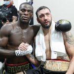 Buatsi and Calic post fight 150x150 - Joshua Buatsi scores seventh-round stoppage of Marko Calic, Chantelle Cameron wins WBC 140-pound belt