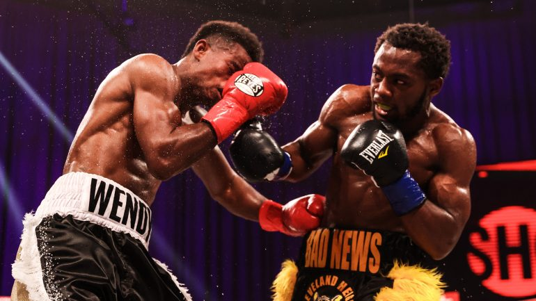 Charles Conwell shakes off hand pain, knocks out Wendy Toussaint in round 9