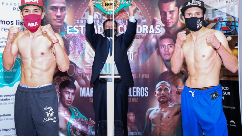 Photos: Juan Francisco Estrada, Carlos Cuadras make weight for rematch