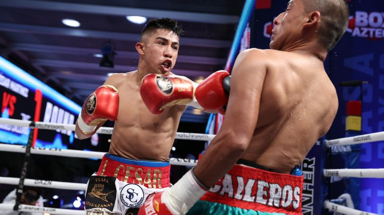 Julio Cesar Martinez batters overmatched Moises Calleros to second round stoppage