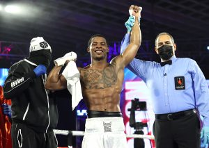 Lorenzo Simpson victory Photo by Mikey Williams Top Rank 300x213 - Elvis Rodriguez highlights the Navarrete-Villa undercard with a knockout
