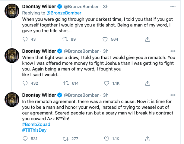 Screen Shot 2020 10 31 at 6.23.46 PM - Deontay Wilder posts Halloween video special, Arum says Bronze Bomber is scarily off base