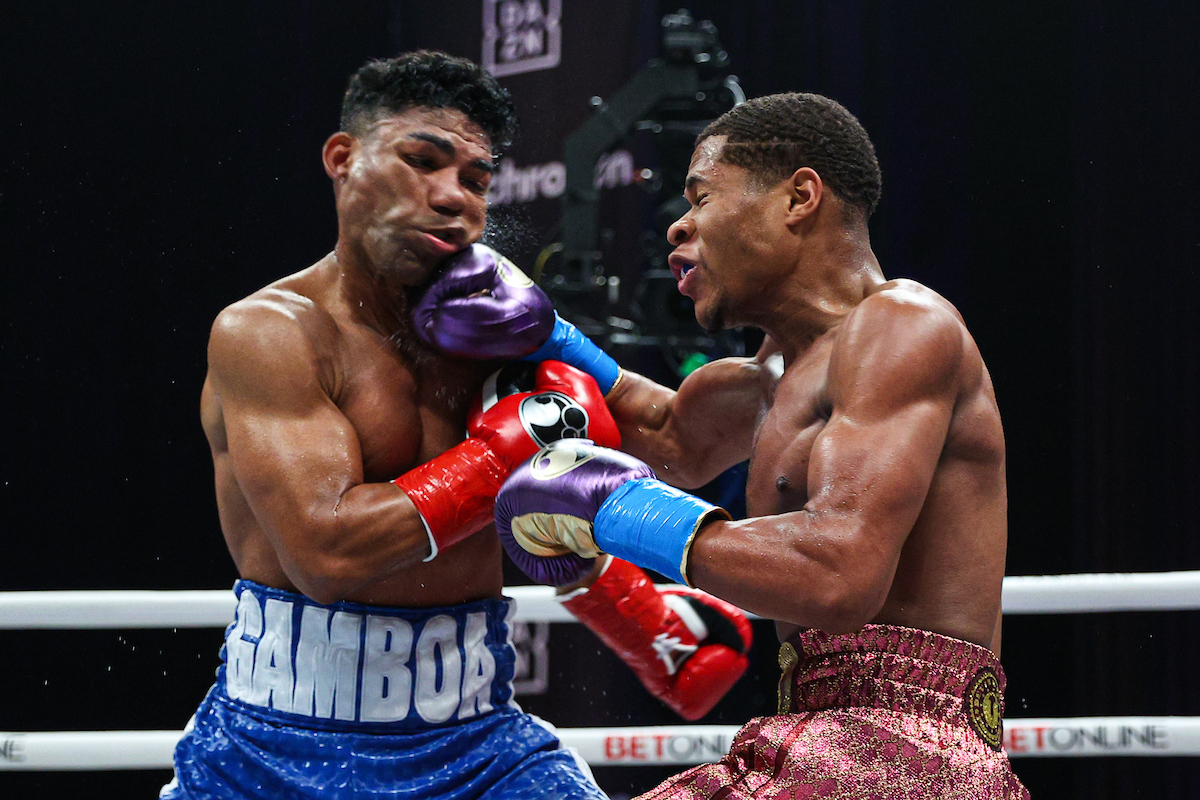 ENM13919 - Devin Haney masterfully outboxes Yuriorkis Gamboa to retain WBC lightweight title