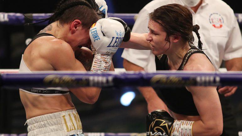 Katie Taylor dominates Miriam Gutierrez for decision triumph, Terri Harper and Rachel Ball win