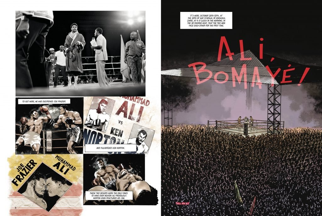 MuhammadAli spreads  1024x689 - Ali and Foreman dazzle in new graphic novel on the 'Rumble in the Jungle'