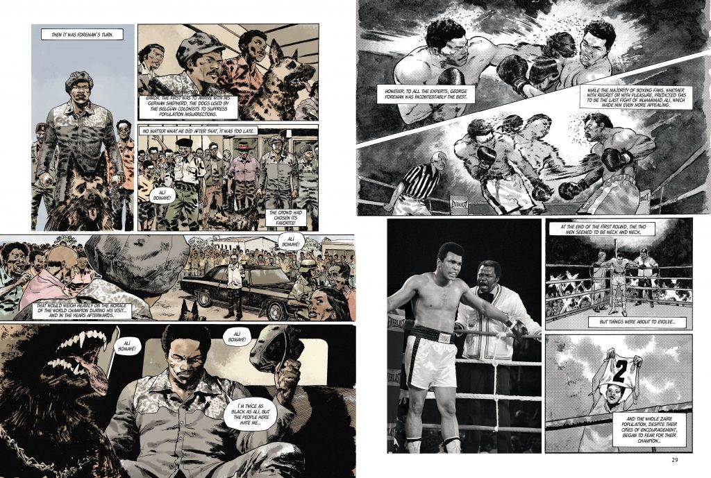 MuhammadAli spreads 5 1024x689 - Ali and Foreman dazzle in new graphic novel on the 'Rumble in the Jungle'