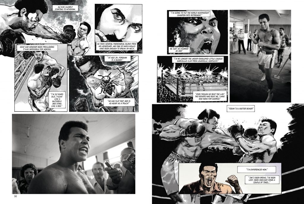 MuhammadAli spreads 6 1024x689 - Ali and Foreman dazzle in new graphic novel on the 'Rumble in the Jungle'