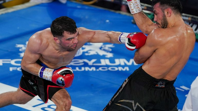 Jack Catterall drops Abderrazak Houya twice, wins 10-round decision