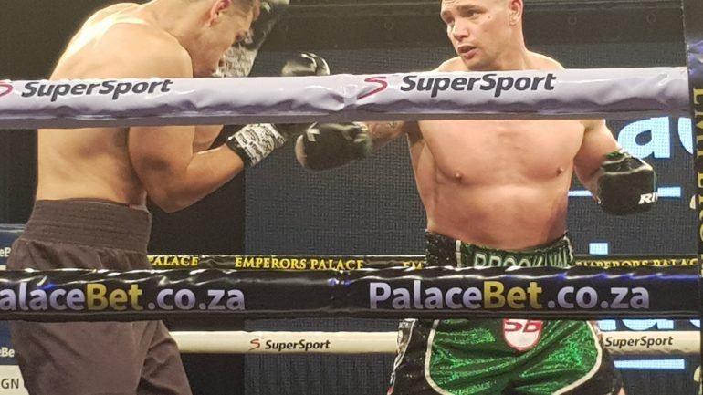 Kevin Lerena rolls over Patrick Ferguson in five, eyes bridgerweight contention