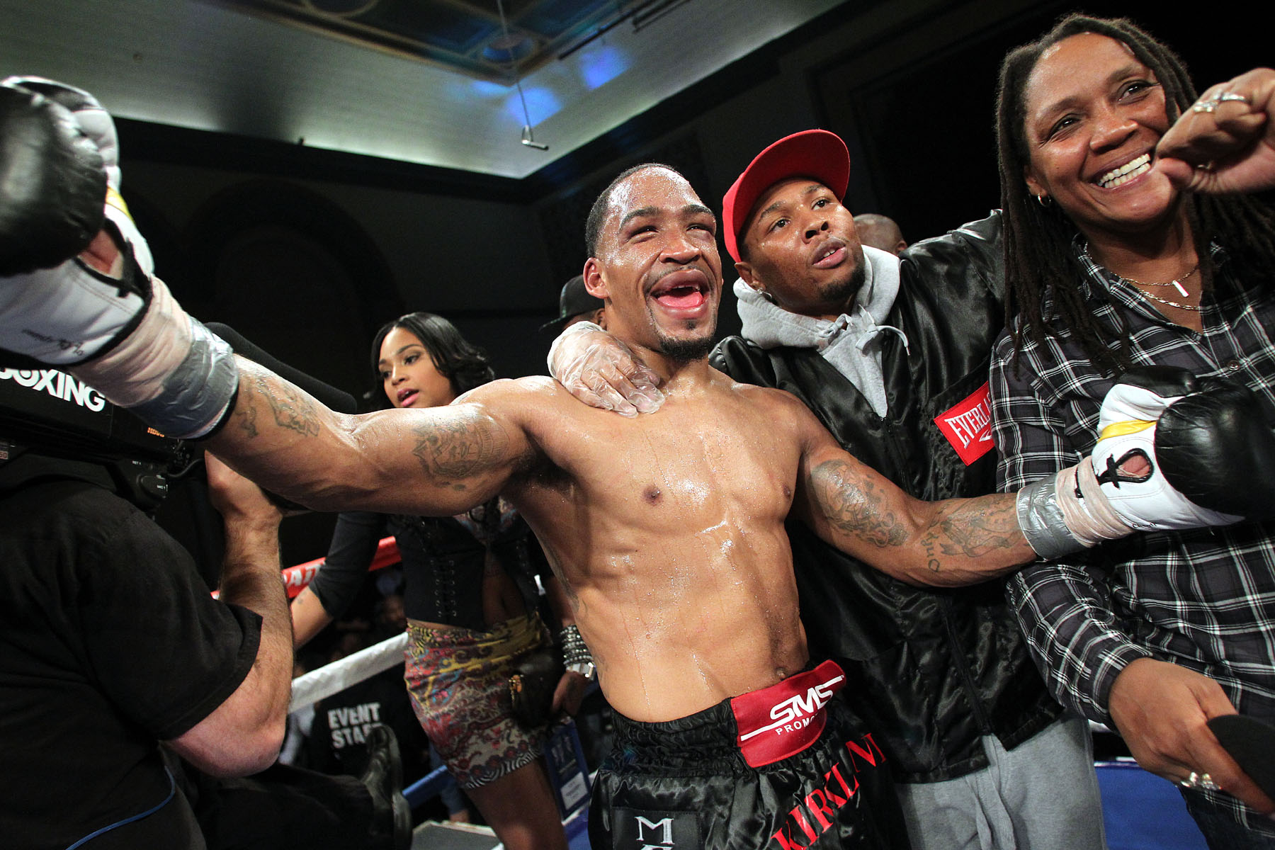 Dec. 7, 2013, Atlantic City,New Jersey --- James Kirkland stops Glen Tapia in the 6th round , Saturday at Boardwalk Hall in Atlantic City, NJ. --- Photo Credit : Chris Farina - Top Rank (no other credit allowed) copyright 2013