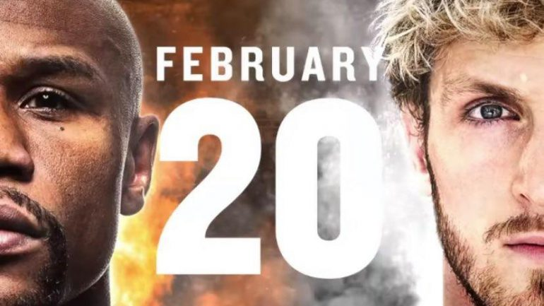Floyd Mayweather will face Logan Paul in exhibition bout on February 20