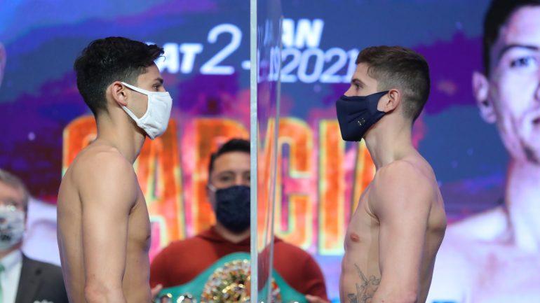 Photos: Ryan Garcia, Luke Campbell weigh in at 135-pound limit