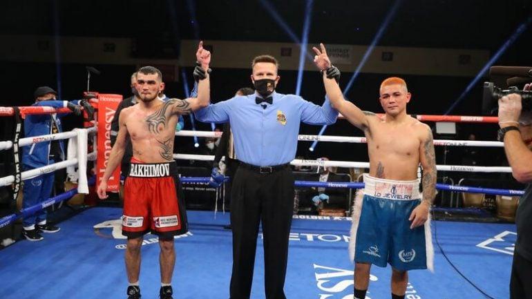 Joseph Diaz Jr. and Shavkatdzhon Rakhimov battle to a majority draw, IBF 130-pound title remains vacant