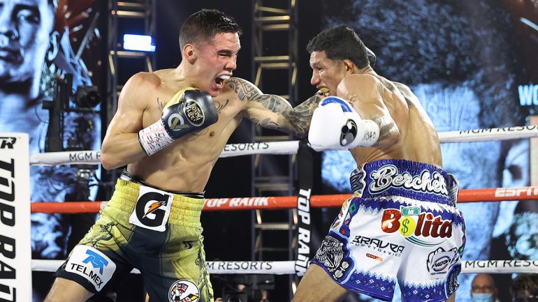 Oscar Valdez pulls off a stunning upset by stopping Miguel Berchelt in 10