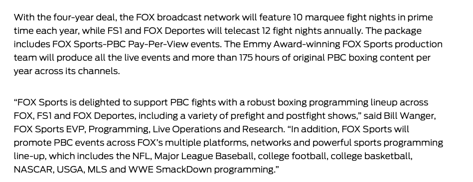 Is the Fox Sports and PBC union in a good place, strong enough to last four years?