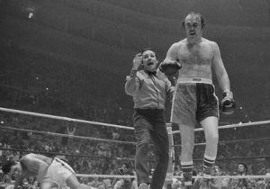 Chuck Wepner after he sent Muhammad Ali to the canvas in their 1975 fight.