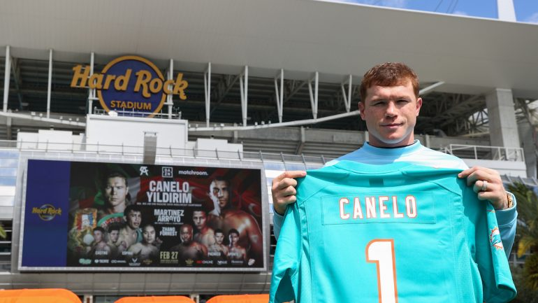 Canelo Alvarez: I'm honored to be fighting in Miami
