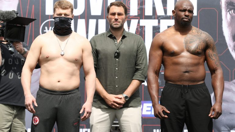 Photos: Alexander Povetkin weighs 228 1/4 pounds, Dillian Whyte is 247 1/4 pounds