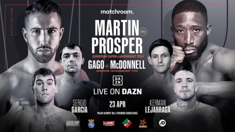 Matchroom Spain show rescheduled from March 26 to April 23