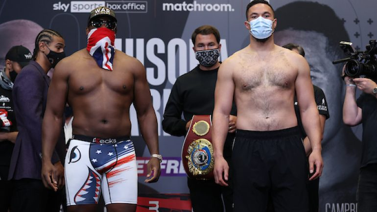 Weights from Manchester for Derek Chisora-Joseph Parker heavyweight showdown