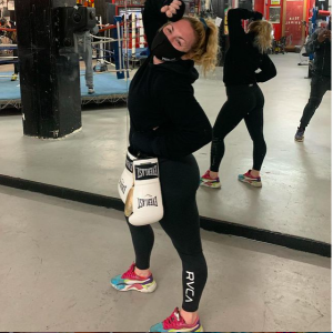 Heather Hardy at Gleason's Gym in DUMBO, Brooklyn, NY.