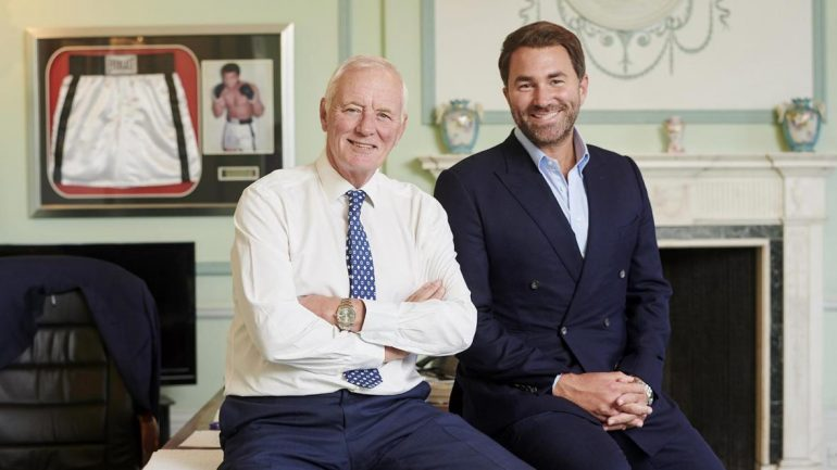Barry Hearn steps aside as Eddie Hearn becomes Matchroom Sport Group chairman