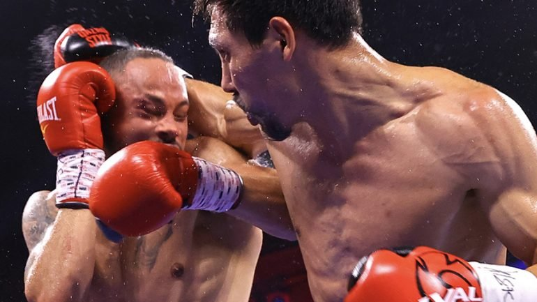 Janibek Alimkhanuly handles Rob Brant with ease on Loma card