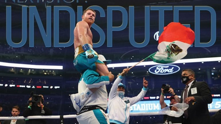Canelo Alvarez is one step away from undisputed, new issue available On Digital Now