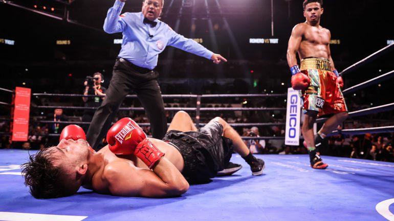 Rolando Romero scores dominant seventh round knockout of Anthony Yigit