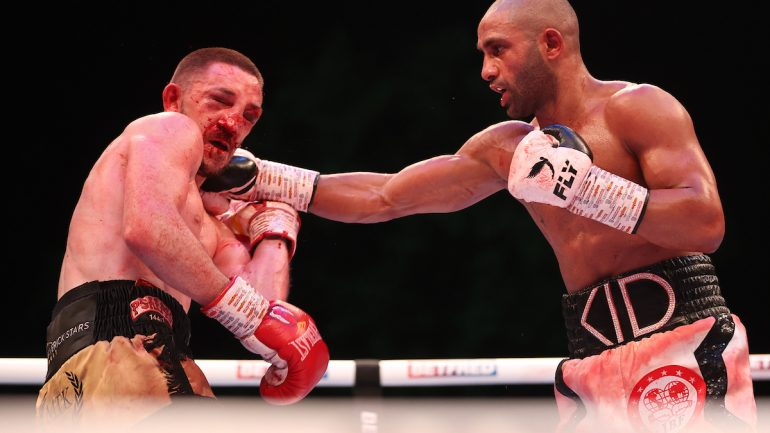Kid Galahad dominates Jazza Dickens for 11th-round stoppage, lifts IBF 126-pound title