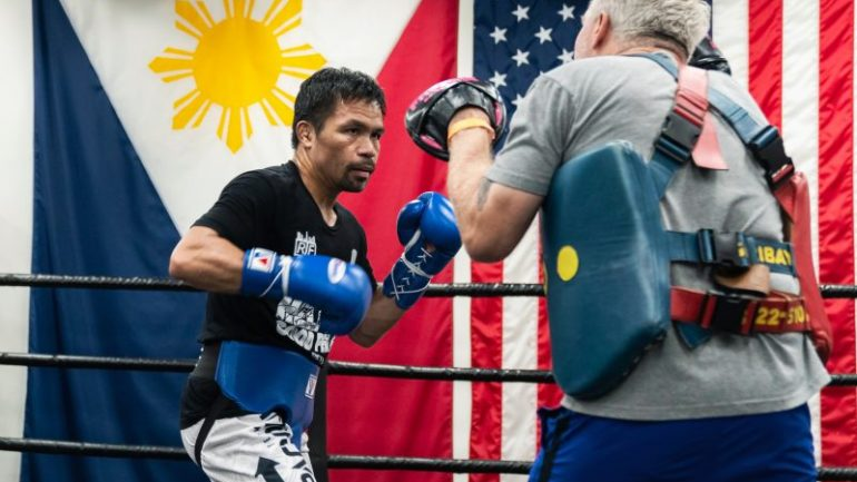 Manny Pacquiao: (Errol Spence) wants to fight toe-to-toe and that's going to be to my advantage