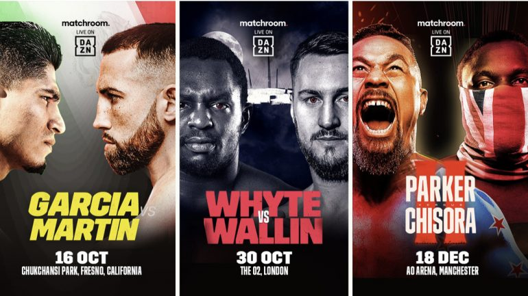 Not blown away by new the Matchroom/DAZN offerings
