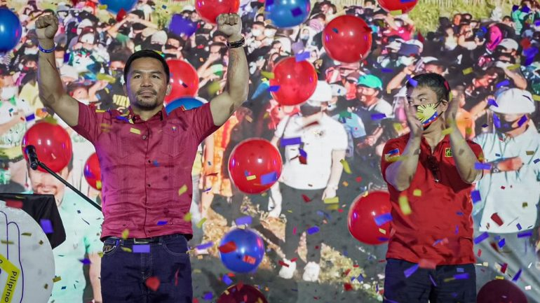 Manny Pacquiao says boxing career is over as he begins presidential campaign
