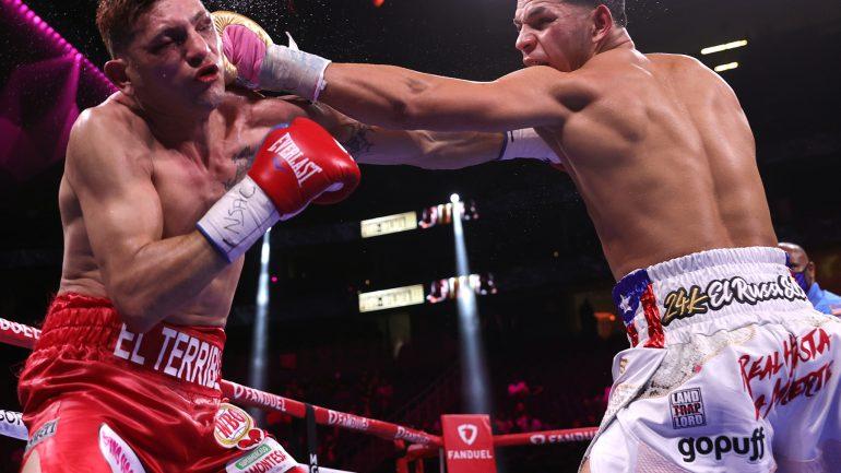 Edgar Berlanga gets up from knockdown to outpoint Marcelo Coceres, Vlad Hernandez upsets J-Rock