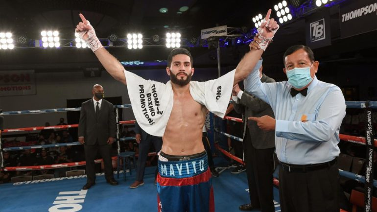 KO artist Miguel Madueno remains unbeaten with fifth-round KO of Jose Luis Rodriguez