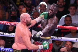 Tyson Fury (left) vs. Deontay Wilder III. Photo credit: Robyn Beck/AFB via Getty Images
