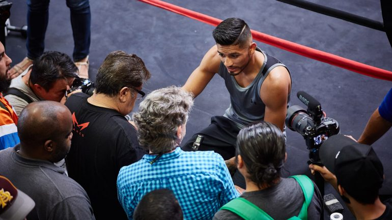 Abner Mares media day 8-18-15 by Abel Madrid
