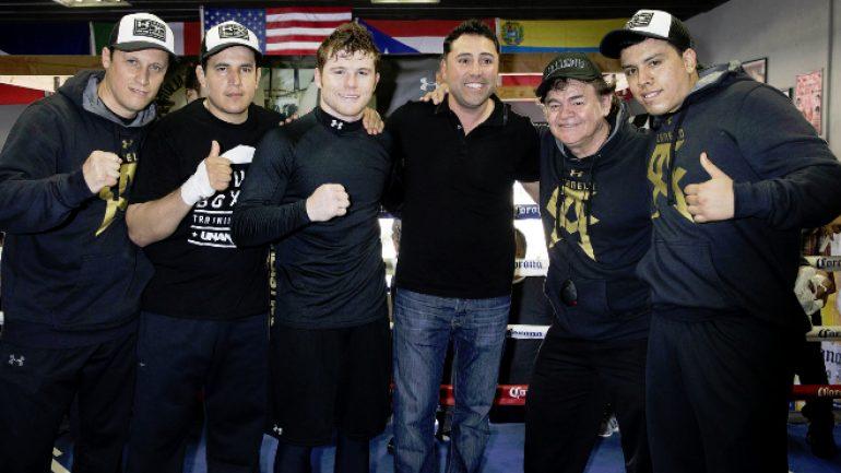 Press release: Oscar De La Hoya disappointed in IBF's decision to strip Canelo Alvarez